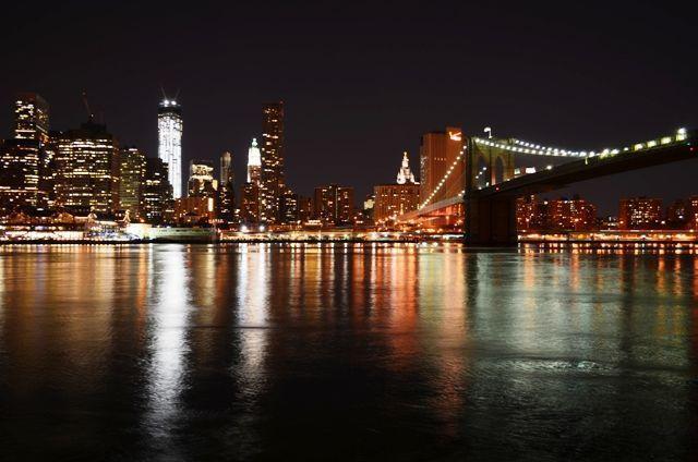 Que hacer en Nueva York -Puente de Brooklyn de noche