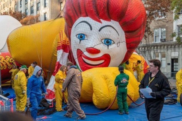 Acción de Gracias en Nueva York-Inflado de globos