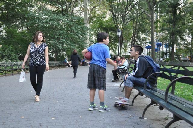 Paulina e hijos Central Park