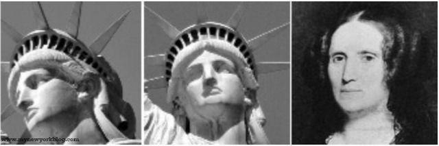 Estatua de la Libertad cara comparada