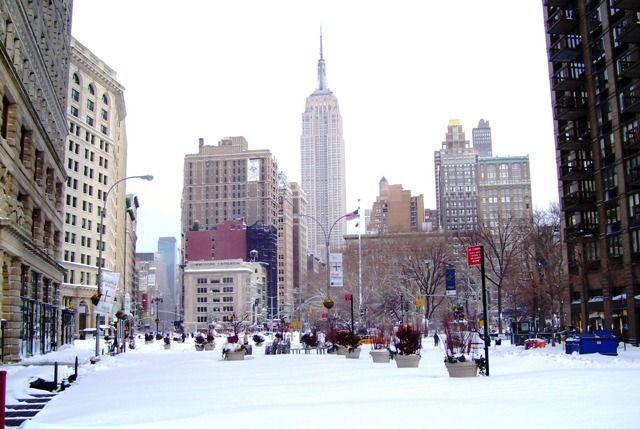 El tiempo en Nueva York en invierno