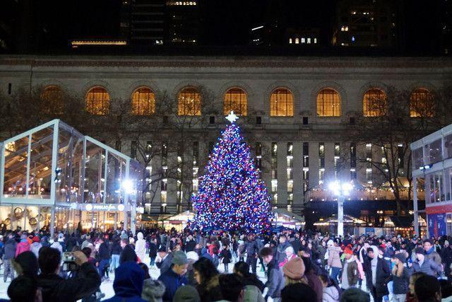 Bryant Park en Navidad Nueva York
