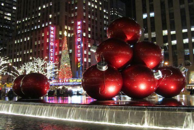 Decoración navideña de Nueva York