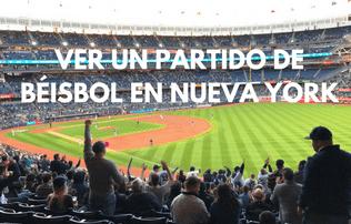 Partido de béisbol en Nueva York-portada
