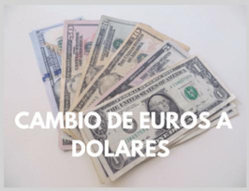 Dónde y cómo hacer el cambio de euros a dólares
