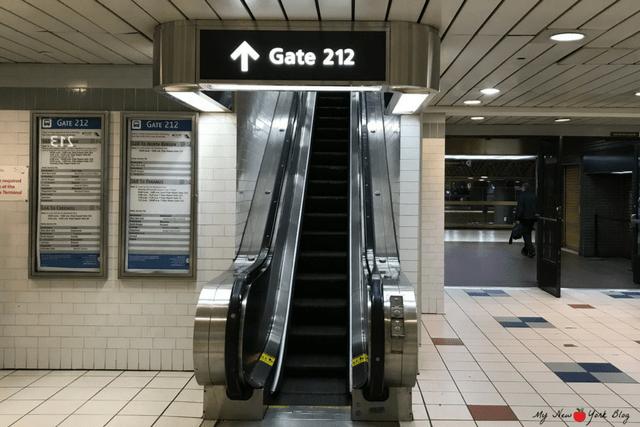 Skyline de Nueva York puerta acceso bus