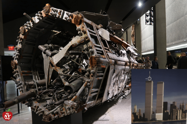 Fragmento antena Torres gemelas
