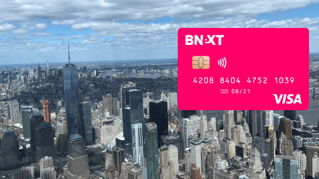 Tarjeta Bnext para Nueva York