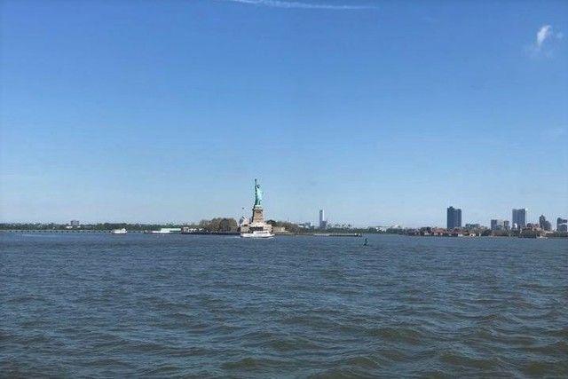 Cómo se ve la Estatua de la Libertad desde el ferry de Staten Island