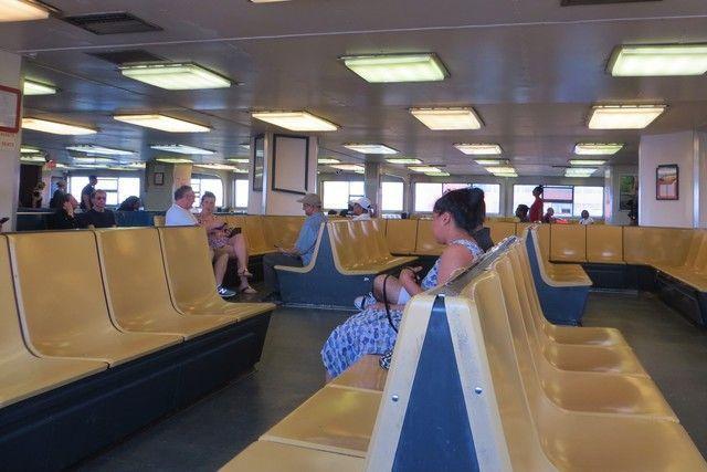Interior ferry gratuito Nueva York