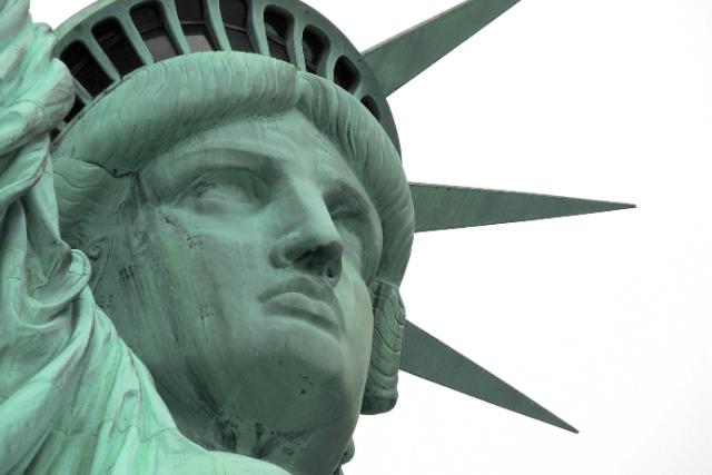 Estatua de la Libertad corona