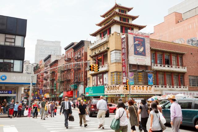 Arquitectura china en Chinatown Nueva York